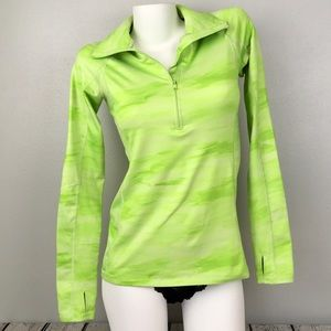 Under Armour Fitted Cold Weather Top Green Small
